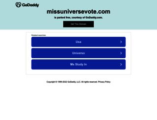 missuniversevote.com screenshot