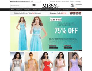missydress.ie screenshot