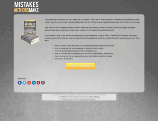 mistakesauthorsmake.com screenshot