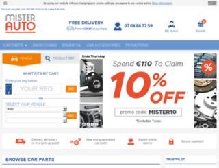 mister-auto.ie screenshot
