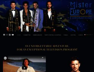 mister-europe-euronations.eu screenshot