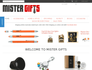 mistergifts.com.au screenshot