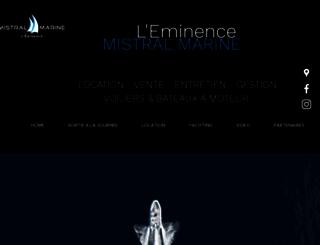 mistral-marine.com screenshot