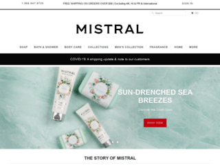 mistralsoap.com screenshot