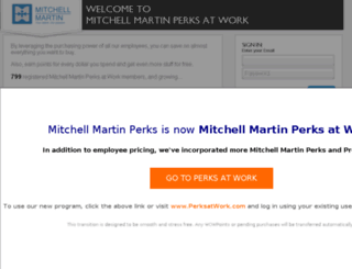 mitchellmartin.corporateperks.com screenshot