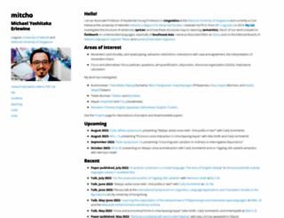 mitcho.com screenshot