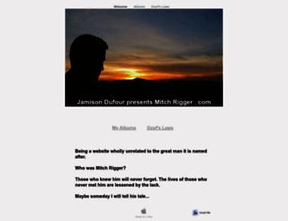mitchrigger.com screenshot