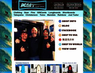 mitchssurfshop.com screenshot