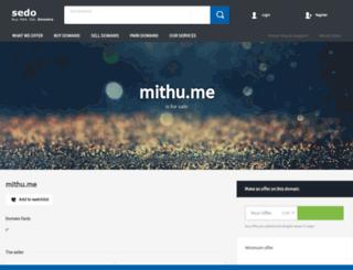mithu.me screenshot