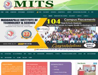 mits.ac.in screenshot