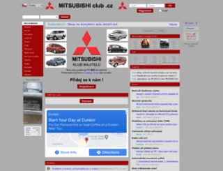 mitsubishiclub.cz screenshot