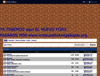 mitsubishigalloper.mforos.com screenshot