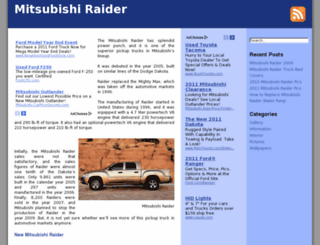mitsubishiraider.org screenshot
