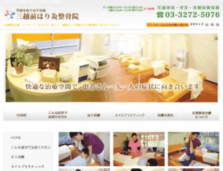 mitsukoshi-seikotsuin.com screenshot