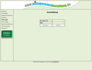 mittagessensbestellung.de screenshot