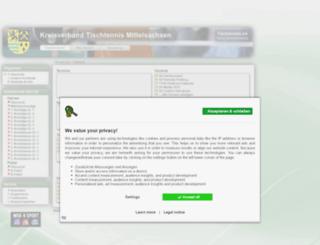 mittelsachsen.tischtennislive.de screenshot