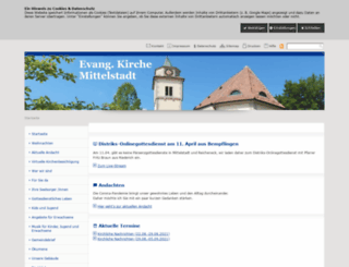 mittelstadt-evangelisch.de screenshot