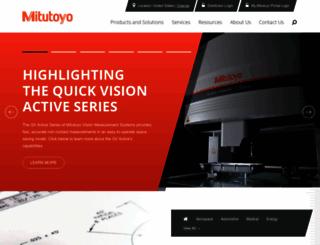 mitutoyo.com screenshot