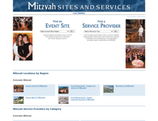 mitzvahsitesandservices.com screenshot