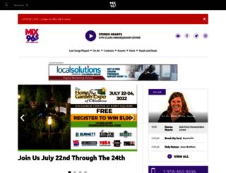 mix96tulsa.com screenshot
