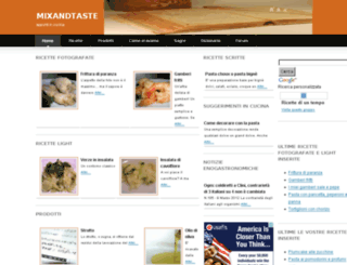 mixandtaste.com screenshot