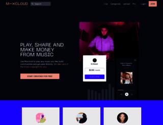 mixcloud.com screenshot