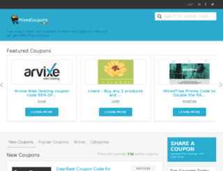 mixedcoupons.com screenshot