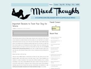 mixedthoughts.net screenshot