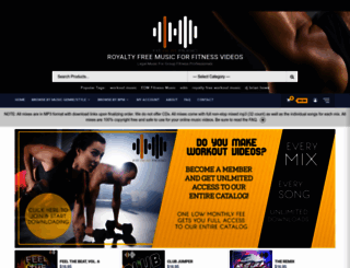 mixes.fitbeatmusic.com screenshot