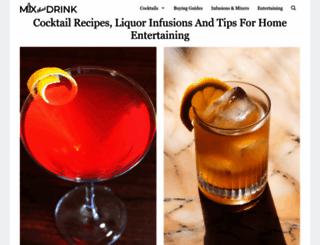 mixthatdrink.com screenshot