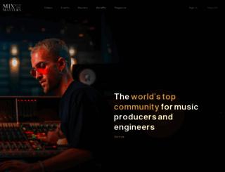 mixwiththemasters.com screenshot