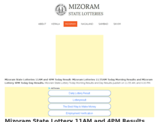 mizoram.lotteries.ind.in screenshot