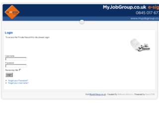 mjg-portal.opencrm.co.uk screenshot
