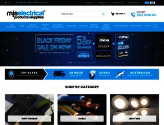 mjselectricalsupplies.com.au screenshot