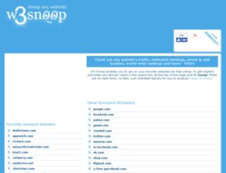 mk.w3snoop.com screenshot