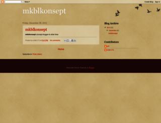 mkblkonsept.blogspot.com screenshot