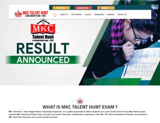 mkctalenthunt.in screenshot