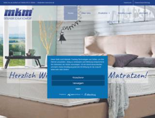 mkm-matratzen.de screenshot