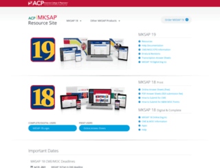 mksap.acponline.org screenshot