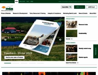 mla.com.au screenshot