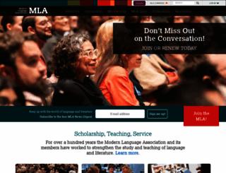 mla.org screenshot