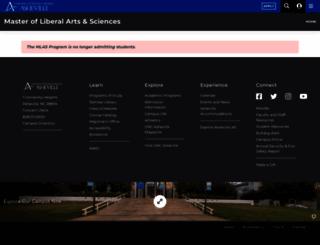 mlas.unca.edu screenshot