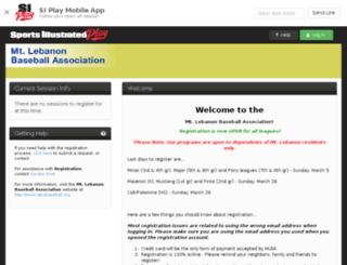 mlba.sportssignupapp.com screenshot