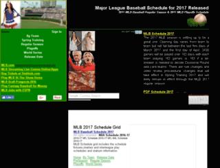 mlbschedule2016.com screenshot