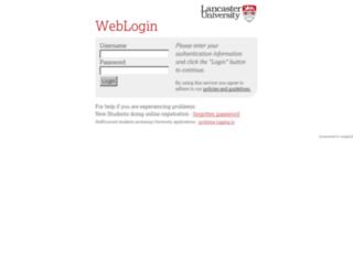 mle.lancs.ac.uk screenshot