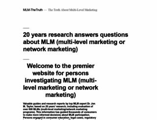 mlm-thetruth.com screenshot