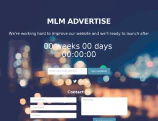 mlmadvertise.com screenshot