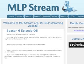 mlpstream.org screenshot