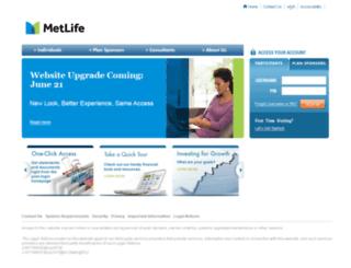 mlr.metlife.com screenshot