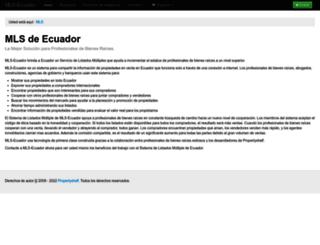 mls.mls-ecuador.com screenshot